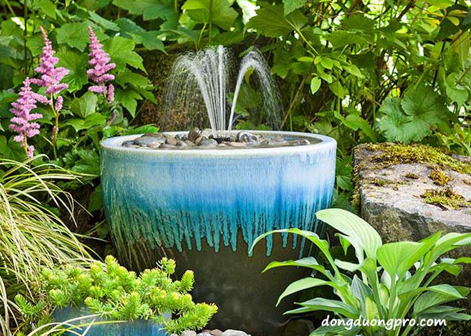Ý tưởng thiết kế đài phun nước cho sân vườn hiện đại