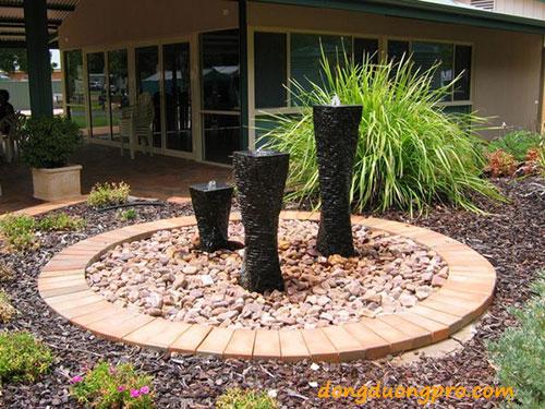 Độc đáo với các mẫu đài phun nước mini sân vườn