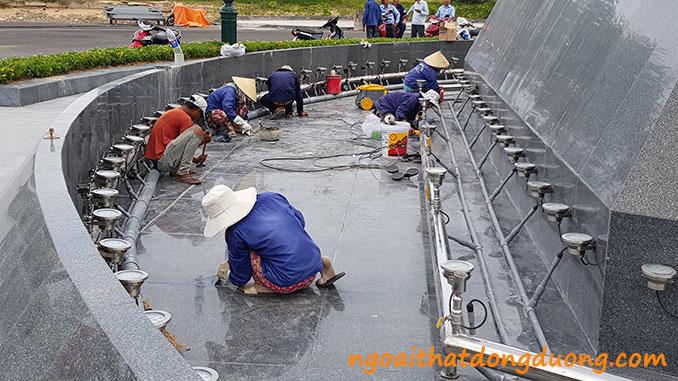 Các bước lắp đặt đài phun nước
