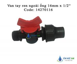 """VAN TAY REN NGOÀI ỐNG 16mm x 1.2"""""""