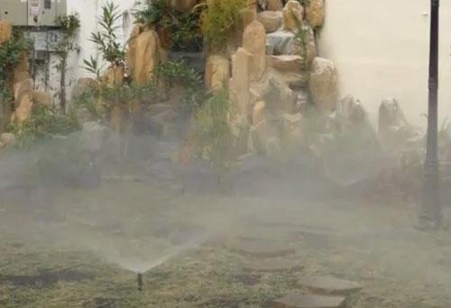 Hệ thống tưới cỏ, tưới cây, tưới rau Thành Ủy Hồ Chí Minh