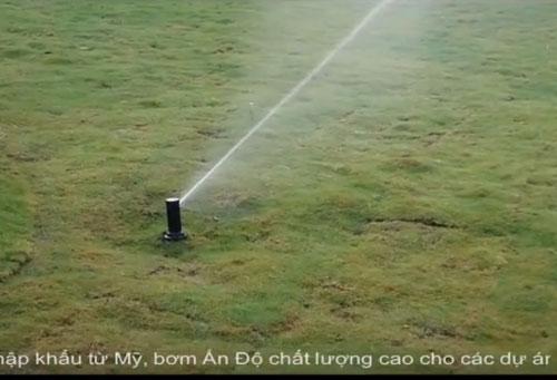 Thi công hệ thống tưới cỏ Bia Heneiken