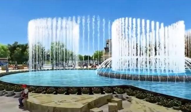 Video thiết kế nhạc nước - Đài phun nước nghệ thuật